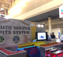 PitSystems.com 888-889-9592 Auto Service Pit System Displayed at Tradeshow