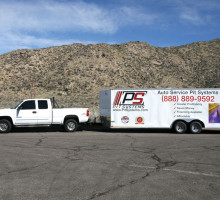 PitSystems.com 888-889-9592 Auto Service Pit Mobile Showroom Trailer and Truck